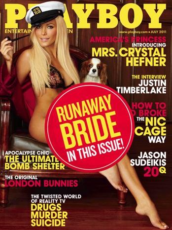 Playboy Crystal Harris Cover - w Runaway Bride Sticker - July 2011