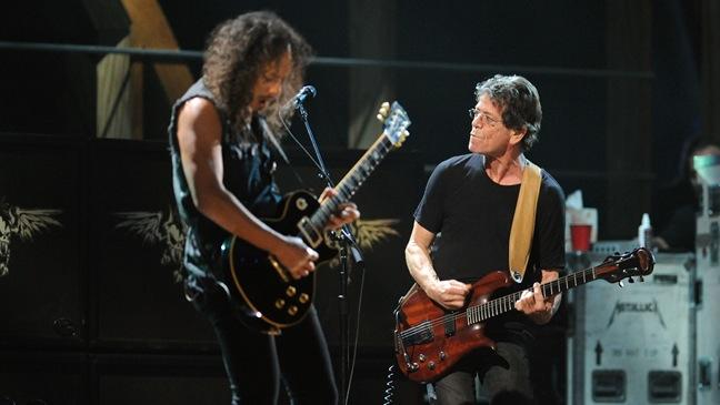 Kirk Hammett; Lou Reed - 25th Anniversary Rock & Roll Hall Of Fame Concert - Night 2 - 2009