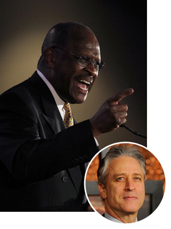 Herman Cain Jon Stewart Split 2011