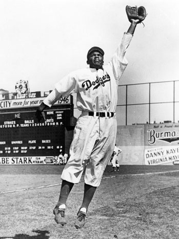 Jackie Robinson - Leaping - 1947