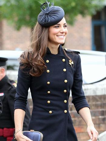 Kate Middleton in Blue McQueen June 25 2011