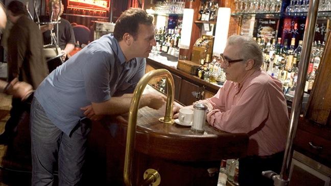 Graham King, Martin Scorsese - On Set of Departed - 2006