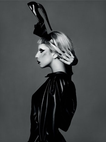 lady gaga publicity 2011 side portrait