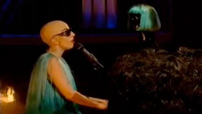 Lady Gaga Bald Screengrab