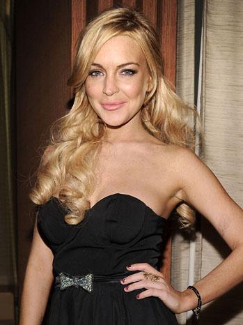 Lindsay Lohan Black 2011