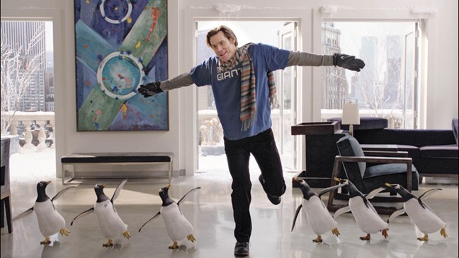 Mr. Popper's Penguins - Movie Still: Jim Carrey Dancing w Penguins - 2011
