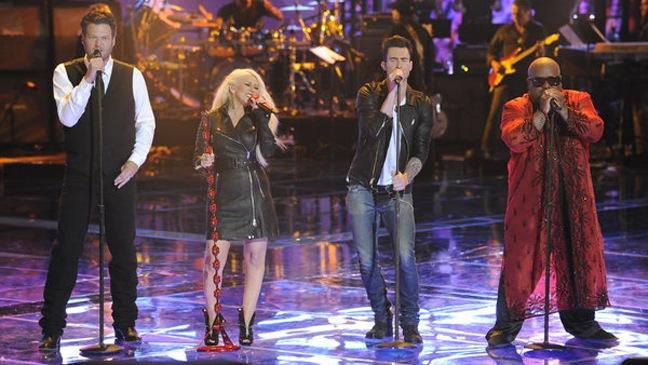 The Voice - TV Still: All Judges - Performance - 6/28/11