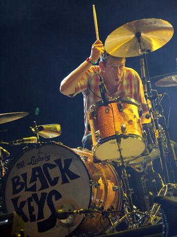Black Keys Patrick Carney Drummer 2011
