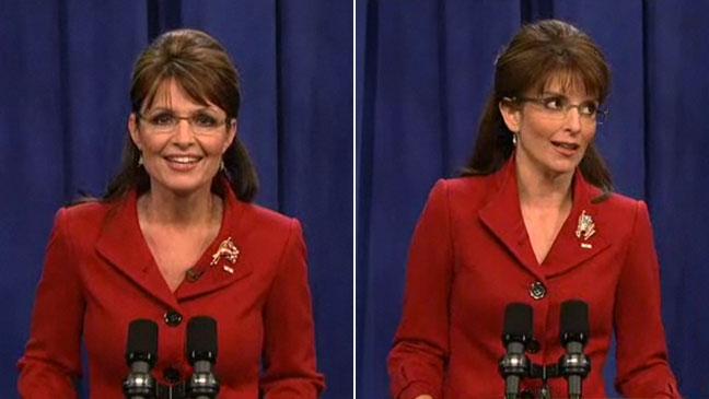 Sarah Palin and Tina Fey SNL Split 2011