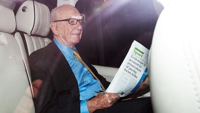 Rupert Murdoch-driven from his apartment-2011
