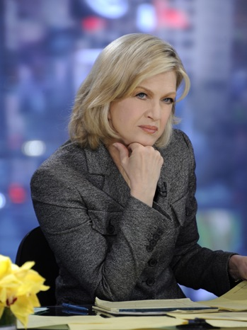 Diane Sawyer - broadcasts from Times Square on the death of Osama Bin Laden - 2011