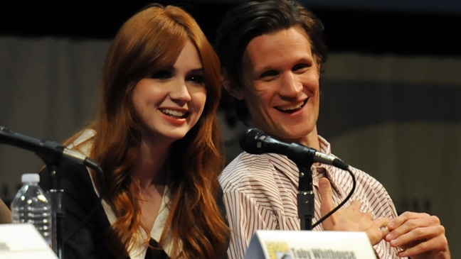 Doctor Who - Karen Gillan - Matt Smith - Comic-Con - Getty