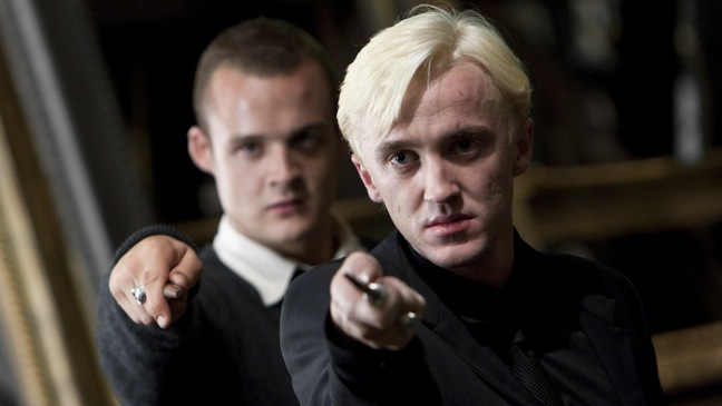 Harry Potter And The Deathly Hallows: Part 2 - Movie Still: Tom Felton as Draco Malfoy - H - 2011