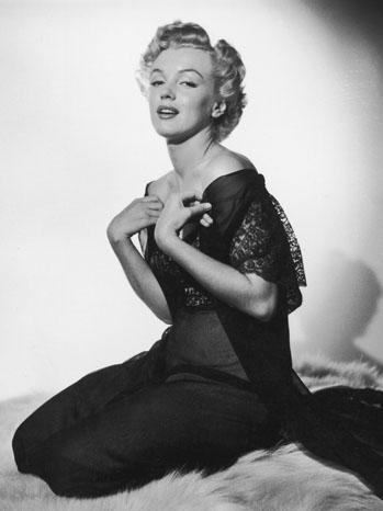 Marilyn Monroe - Portrait in Lingerie black and white - 1955