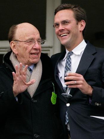 Rupert Murdoch, James Murdoch - Cheltenham Horse Racing Festival - 2010