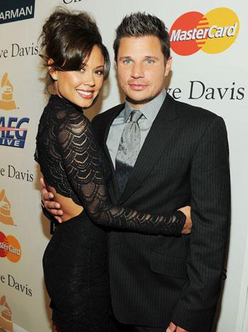 Nick Lachey Vanessa Minnillo Grammys 2011