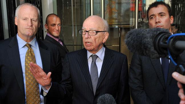 Rupert Murdoch Speaks to Media 2011