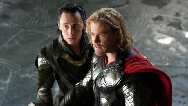 Tom Hiddleston and Chris Hemsworth - Movie Still:Thor - 2011