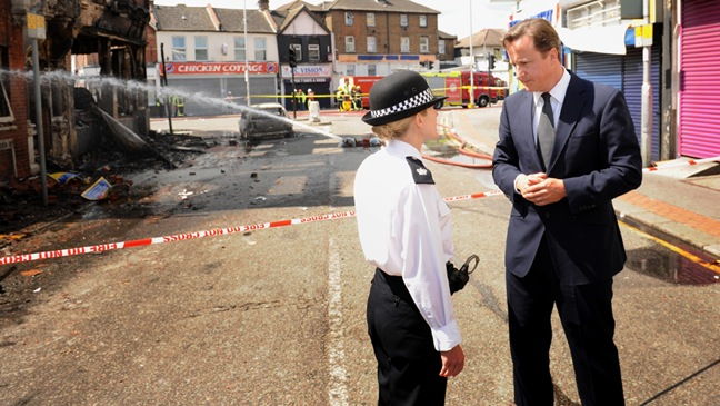 British Prime Minister David Cameron - London Riots - H - 2011
