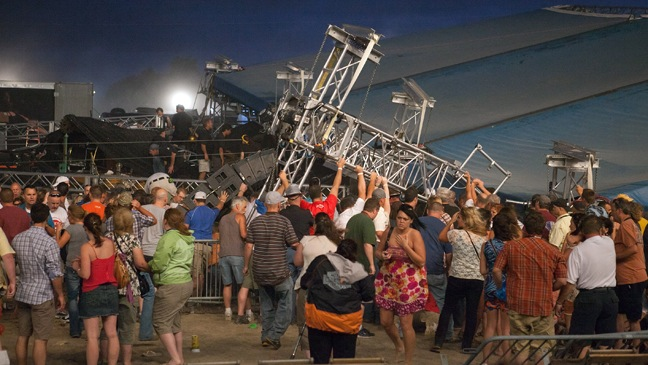 Sugarland's Stage Collapses At The Indiana State Fair - H - 2011