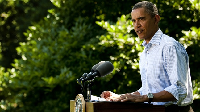 Barack Obama - speaks to the nation about Hurricane Irene - H - 2011