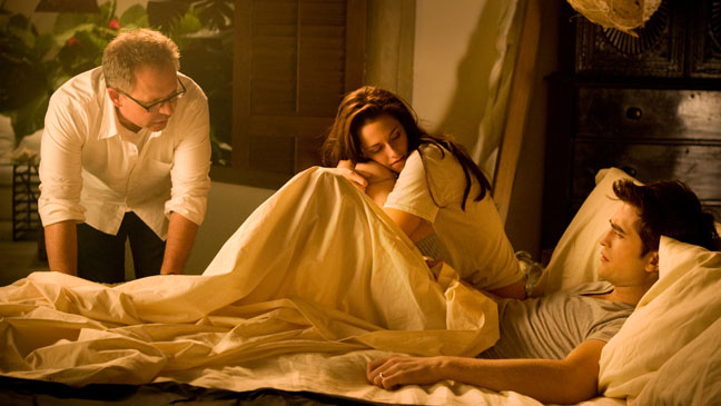 Bill Condon, Robert Pattinson and Kristen Stewart