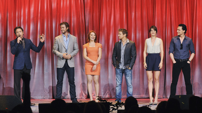 The cast of the Avengers at D23