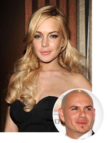 Lindsay Lohan Pitbull Split - P 2011