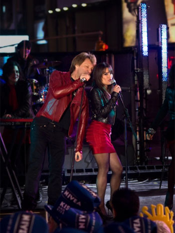 New Year's Eve Lea Michele Bon Jovi - P 2011
