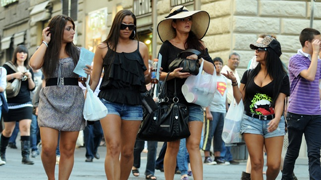 The Girls of the Jersey Shore in Italy