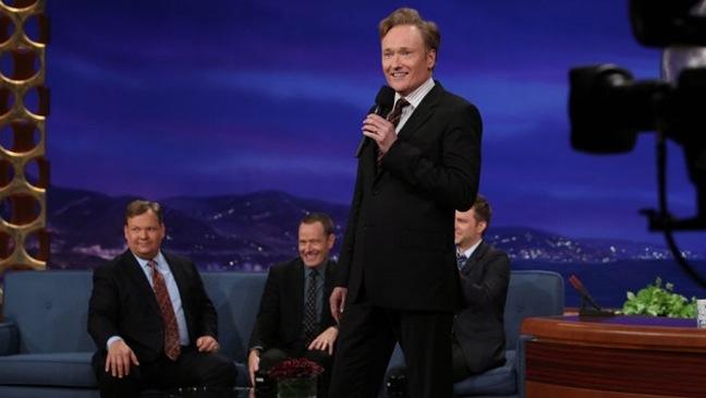 Conan O'Brien - On Set of Conan O'Brien show - H - 2011