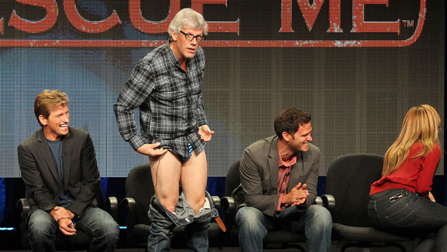 Rescue Me TCA - Denis Leary Peter Tolan Pants Drop - 2011