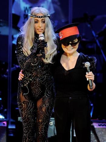 Yoko Ono, Lady Gaga - perform at 'We Are Plastic Ono Band' - P - 2010