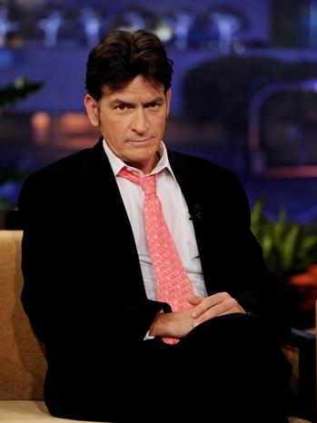 Charlie Sheen - TV Still: Tonight Show Interview - P - 2011