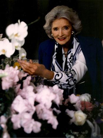 Delores Hope Flowers Portrait - P 2011