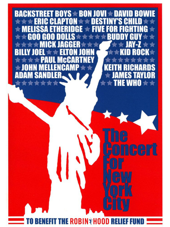 9-11 Concert for New York City poster