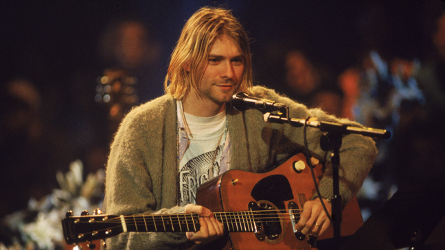 "Nirvana Frontman Kurt Cobain on ""MTV Unplugged"" in 1993 - H 2011"