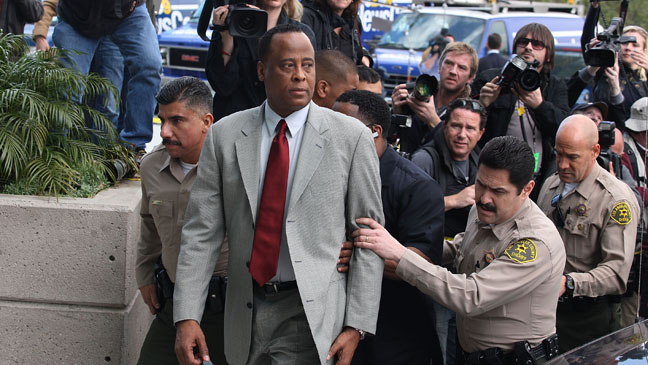 Conrad Murray Outside Courthouse - H 2011