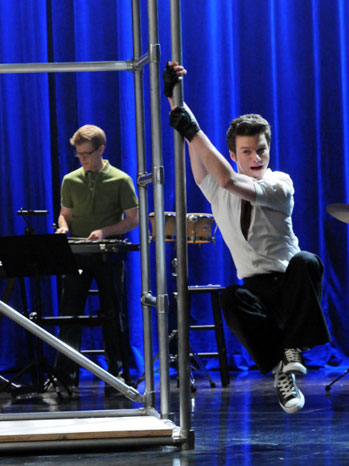 Glee Chris Colfer Pole Season Three - P