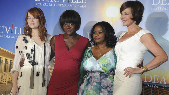 Emma Stone, Viola Davis, Octavia Spencer and Allison Janney at the Deauville American Film Festival