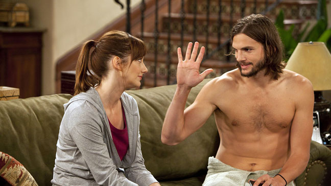 Ashton Kutcher Judy Greer Two and a Half Men - H 2011
