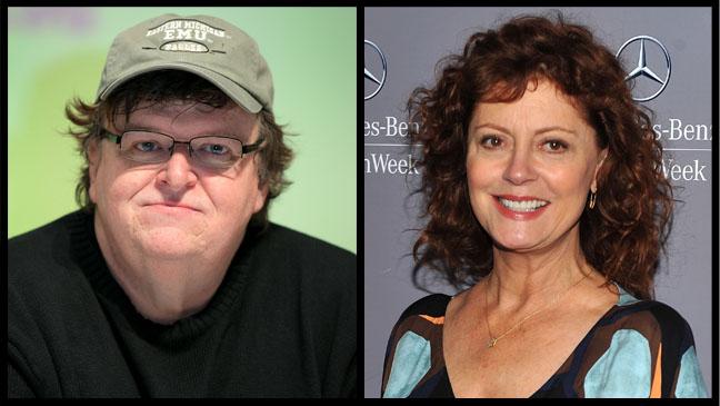 Michael Moore Susan Sarandon Split - H 2011
