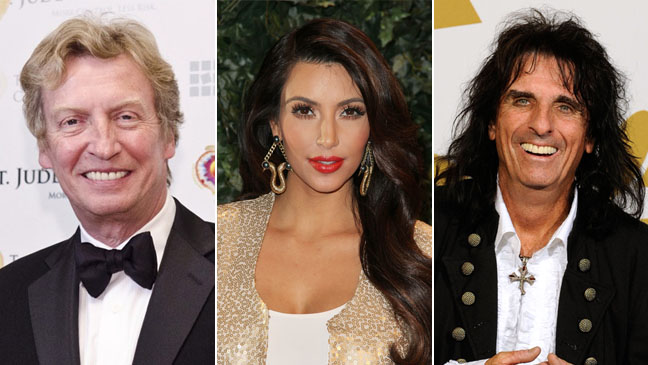 Nigel Lythgoe, Kim Kardashian, Alice Cooper - SPLIT - H