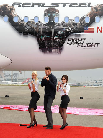 Hugh Jackman Real Steel Virgin Airline - P
