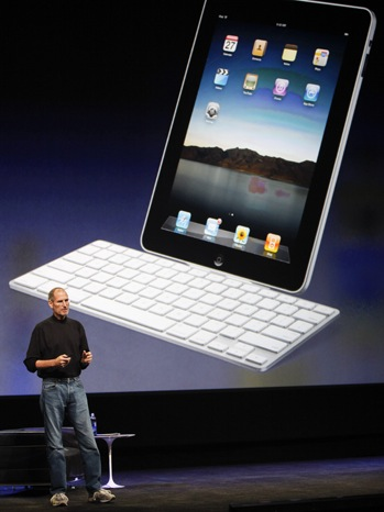 Steve Jobs - Apple Unveils Touch-Screen Tablet Device - P - 2011