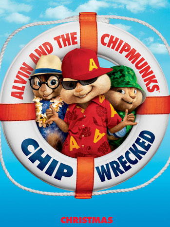 Alvin and the Chipmunks Chipwrecked Poster Art - P 2011