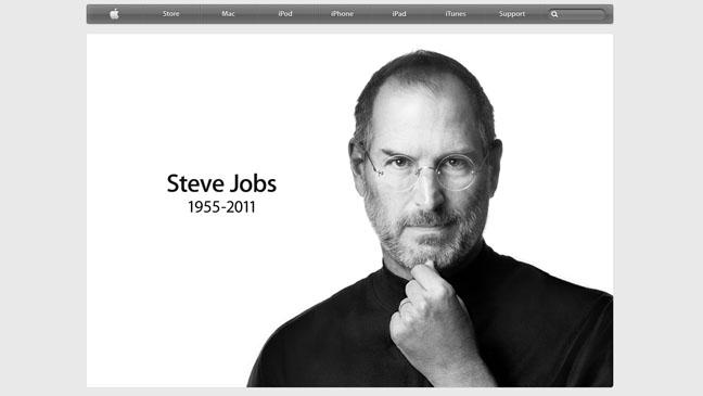 Apple Homepage Steve Jobs - H 2011