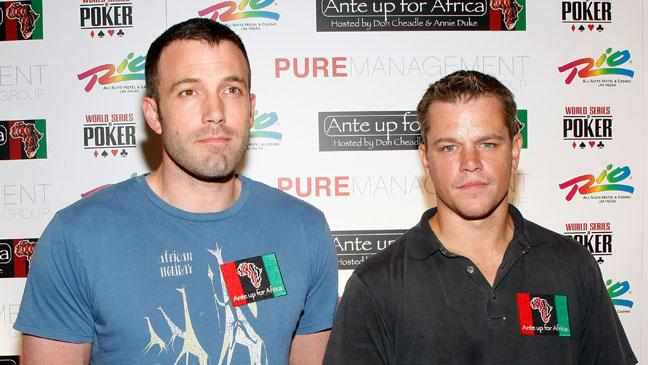 Ben Affleck Matt Damon Ante up for Africa - H 2011
