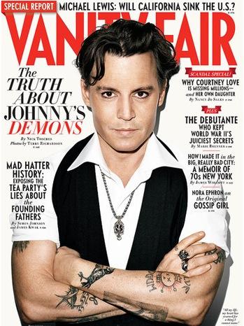 Johnny Depp - Vanity Fair October 2011 Cover - P - 2011