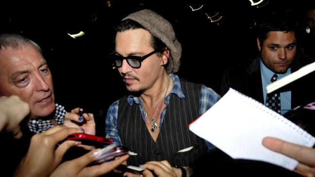 Johnny Depp Rum Diary Screening Berkeley - H 2011